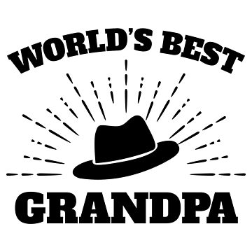 World's Best Grandpa Grandpa hat Black- Gift Idea by vicoli-shirts