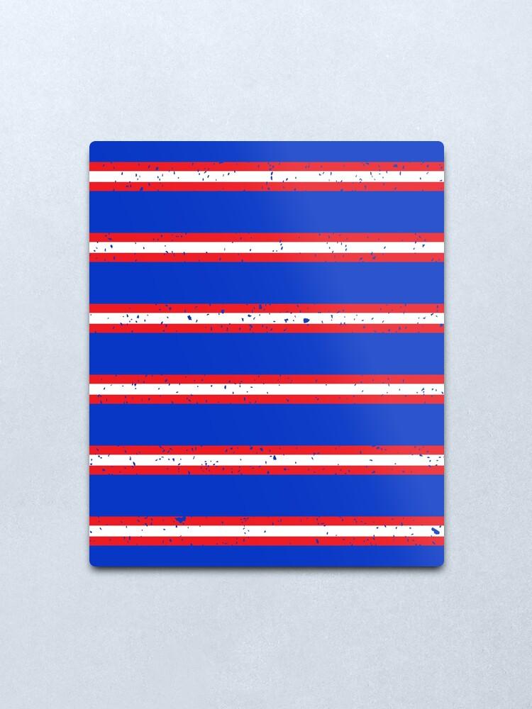 Red /& Blue Bar Scarf