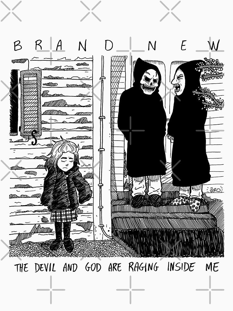 The Devil and God are Raging Inside Me (Black vr.) - Fanartwork by girollaz