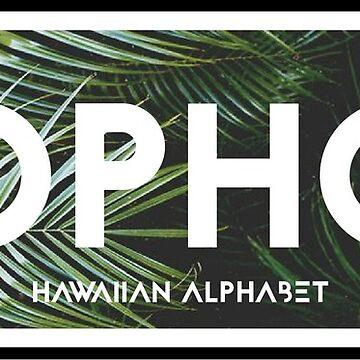 SOPHOS | Hawaiian Alphabet by rracheell