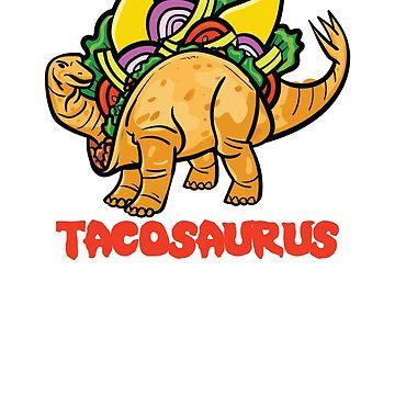 Tacosaurus Funny Tacos & Dinosaurs by mBshirts