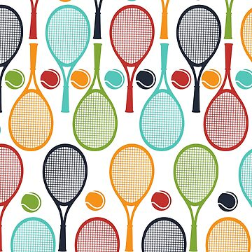 Fun Tennis Love Gift Tennis Racket and Tennis Ball Design for Tennis Players, Tennis Teams, and Tennis Captain by dfitts