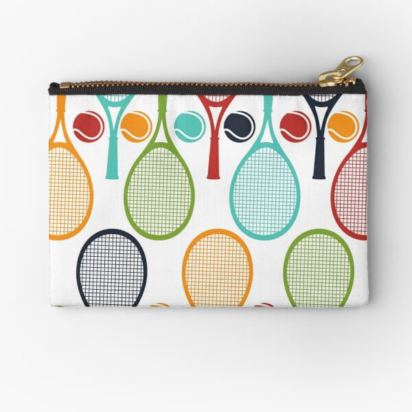 Fun Tennis Love Gift Tennis Racket and Tennis Ball Design for Tennis Players, Tennis Teams, and Tennis Captain Zipper Pouch