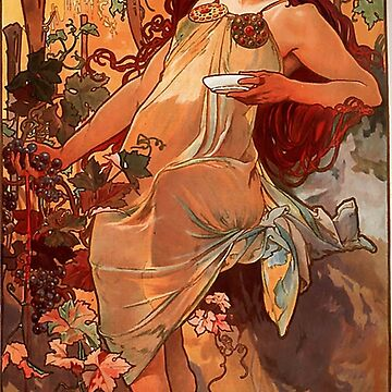 Autumn,1of 4,1896,Alphonse Mucha,art nouveau by love999