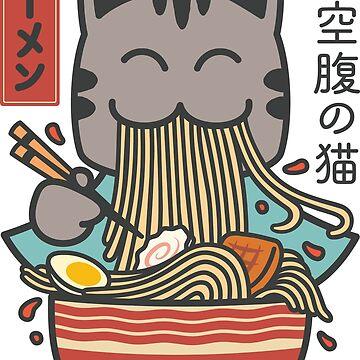 Ramen Cat Kawaii by Fibr