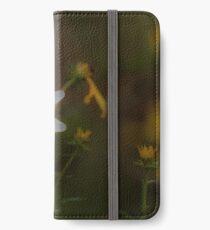 grainy edited flowers iPhone Wallet/Case/Skin