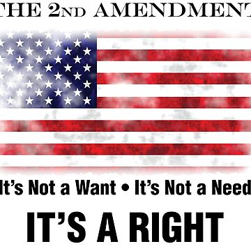 2nd Amendment - Not a Need, It's a Right by MDBMerch