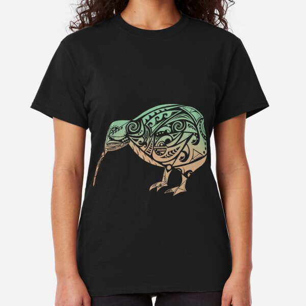 Maori Kiwi Bird Green Orange - Gift Idea Classic T-Shirt