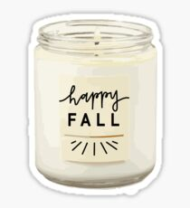 Fall Candle Sticker Sticker
