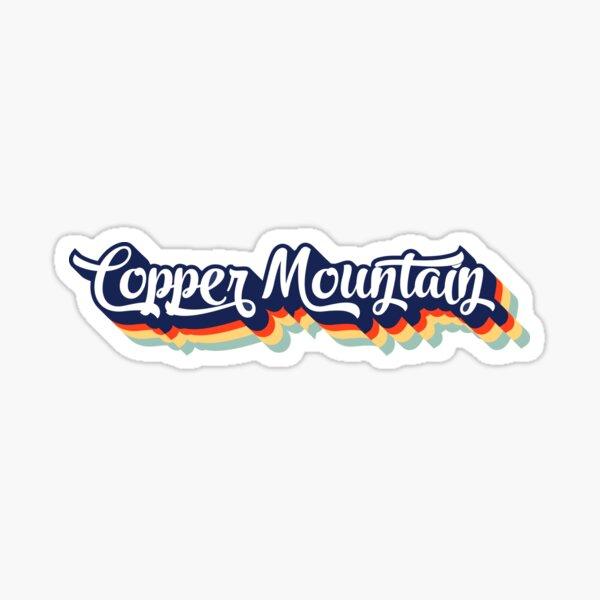 Copper Mountain Colorado Skiing Ski Mountains Typography Vintage 70's Sticker