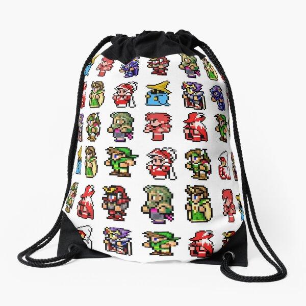 Final Fantasy sprites Drawstring Bag