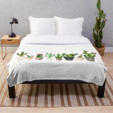 Kaktus Fleecedecke