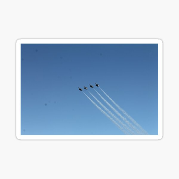 Air show, #AirShow, #sky #airplane #plane #blue #jet #flight #air #flying #aircraft #fly #travel #trail #aeroplane #clouds #white #aviation #cloud #contrail #smoke #glider #transport #high #speed Sticker