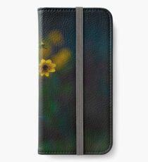 yellow flowers dark day iPhone Wallet/Case/Skin