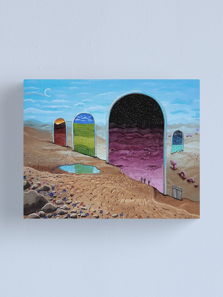 Alternate view of Between Nowhere Canvas Print