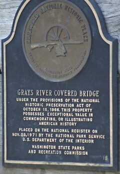 Gray's River Covered Bridge Historical Sign by Loisb