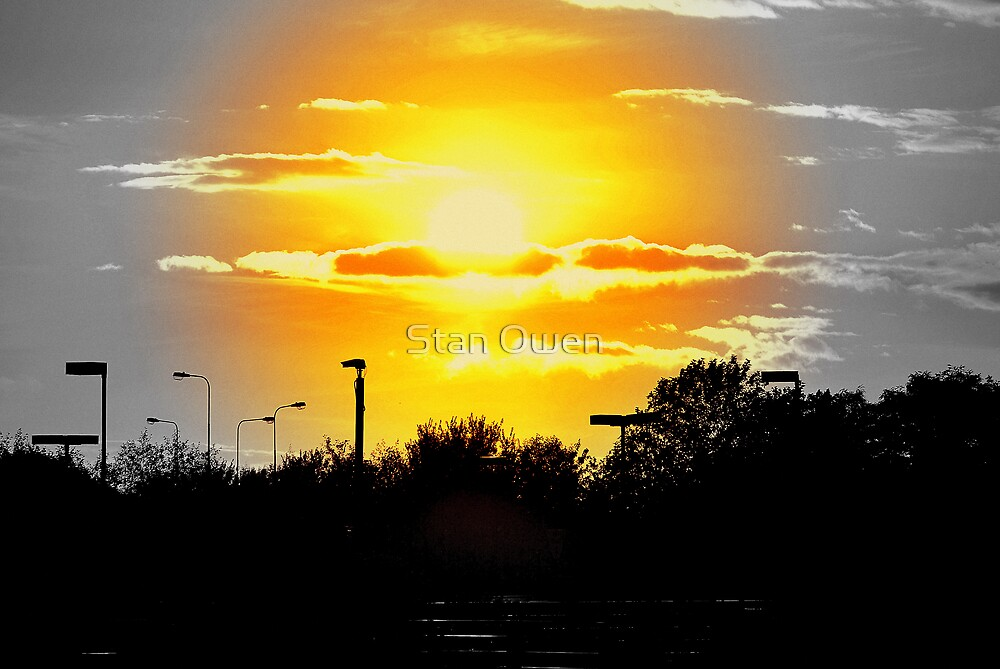 Sunset at Salford Quays by Stan Owen