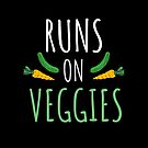 Runs On Veggies Vegan Vegetarian Runner Running Fitness by Aniko Gajdocsi