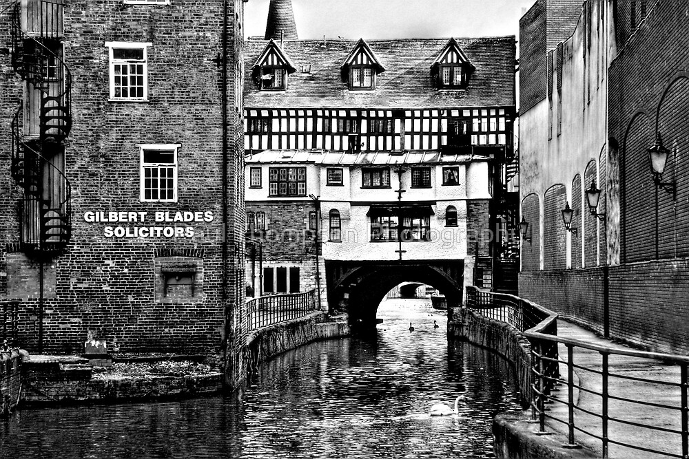 The Fossdyke Canal - Lincoln B&W by Paul Thompson Photography