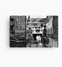 The Fossdyke Canal - Lincoln B&W Canvas Print