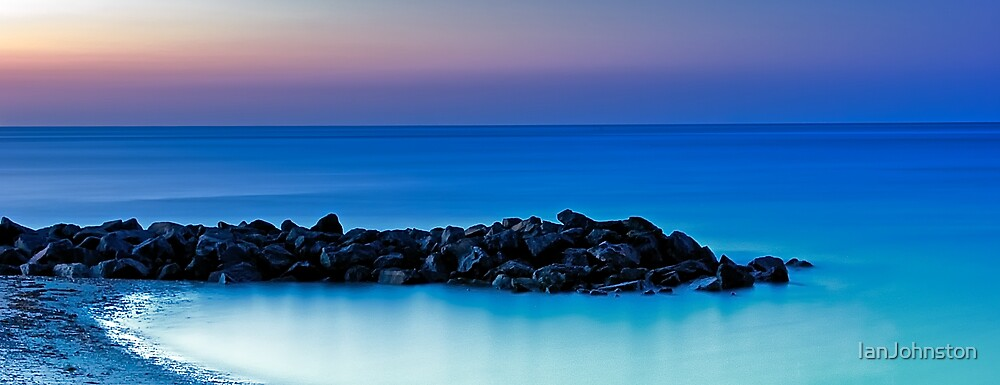 Peacefull Silky Rocks and Sea by IanJohnston