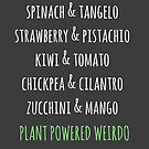 Plant Powered Weirdo Funny Vegan Motto Vegan Rhyme Vegan Poem by Aniko Gajdocsi
