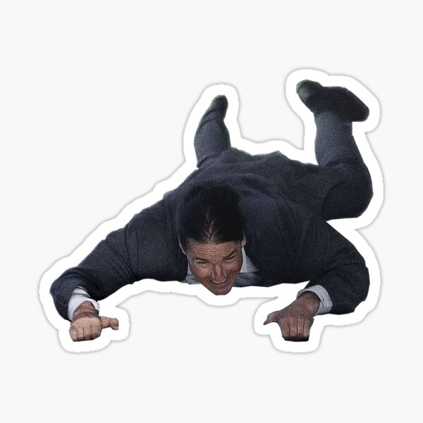 Tom Cruise Hanging Off Your Stuff Sticker