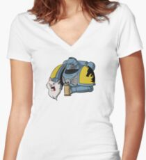 Space Furries Women's Fitted V-Neck T-Shirt