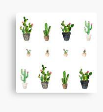 Kaktus-Muster Leinwanddruck