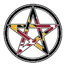 Maryland Flag Pentacle by GroveHollow