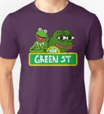 Green street with Pepe and Kermit Unisex T-Shirt