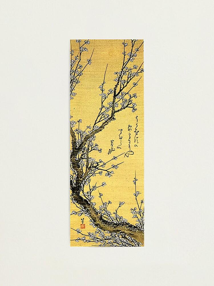 Alternate view of 'Flowering Plum' by Katsushika Hokusai (Reproduction) Photographic Print