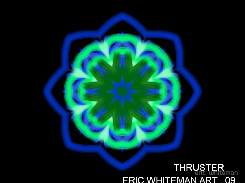 ( THRUSTER )  ERIC WHITEMAN ART   by eric  whiteman