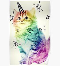 Unicorn Kitten Poster