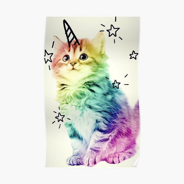Unicorn Kitten Poster