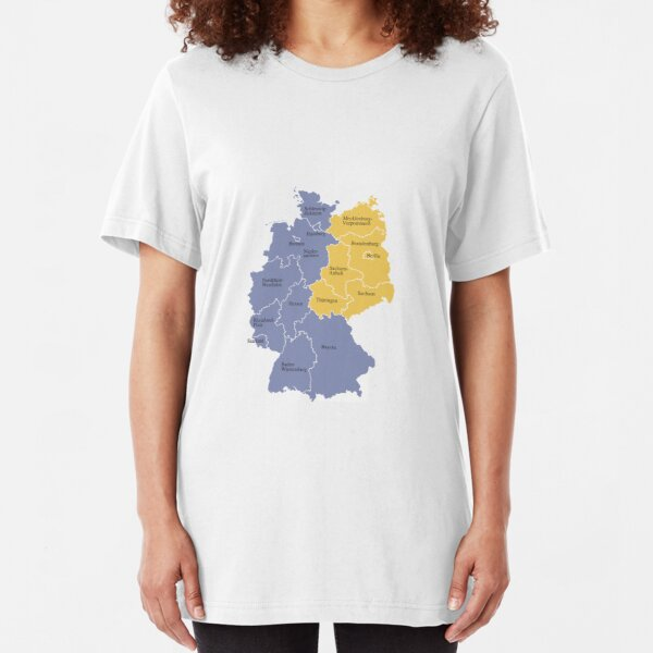 Germany East West Slim Fit T-Shirt