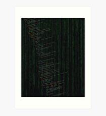 Linux kernel code Art Print