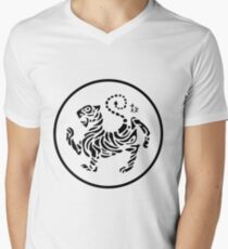 karate shotokan tigre logo Men's V-Neck T-Shirt