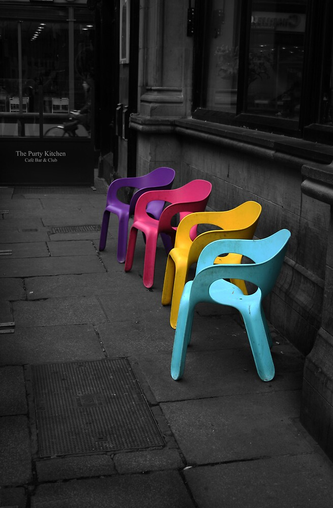 Mulit Color Chairs  by Autofocus