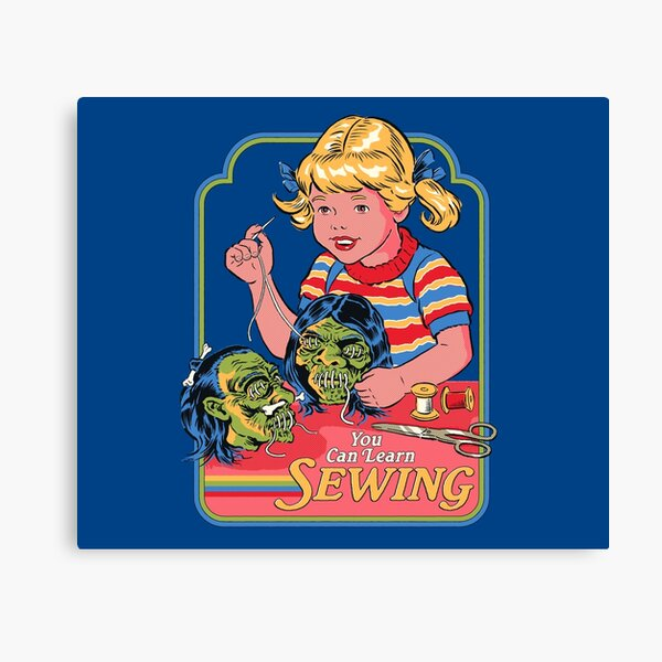 You Can Learn Sewing Canvas Print