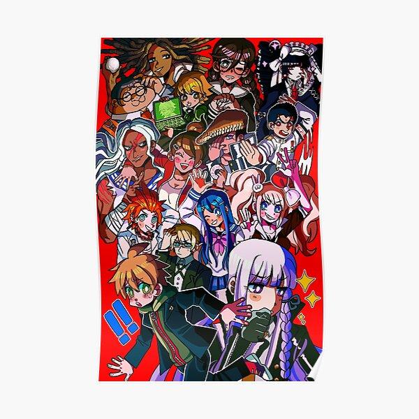Poster A3 Danganronpa Trigger Happy Havoc Makoto Naegi Sayaka Maizono Anime
