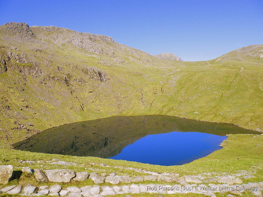 The Lake District: Angle Tarn under Bow Fell  by Rob Parsons (Just a Walker with a Camera)