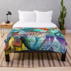 Wings of fire all dragon Throw Blanket
