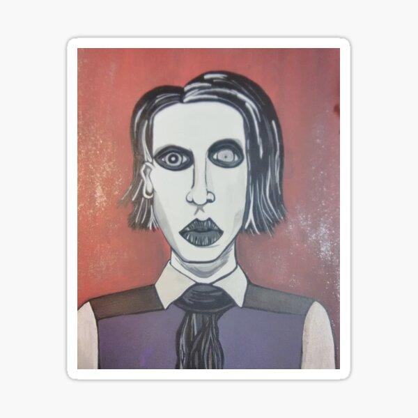 """Marilyn Manson AnitChrist Superstar Fan Art Banner or Sticker 24/"""" x 24/"""""""