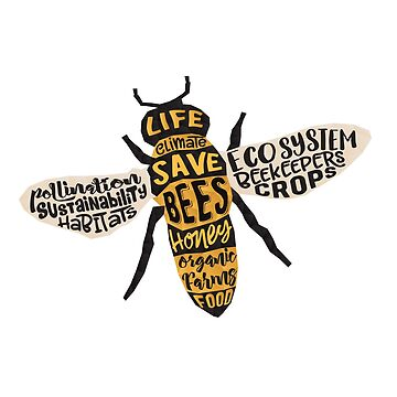 Save Bees - Word Cloud by jitterfly