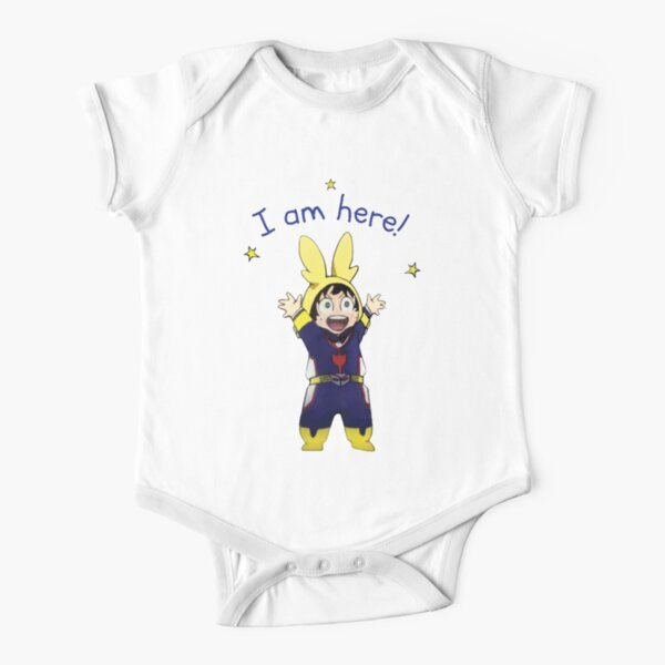 Funny Little Deku, I am Here! Short Sleeve Baby One-Piece