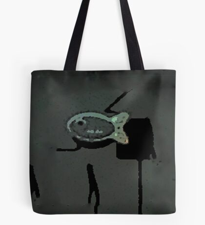 THE GRUNGE FISH | DARK AND MOODY SIMPLE FISH IN A MONOCHROMATIC WORLD Tote Bag