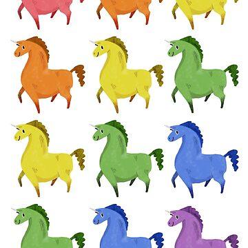 Rainbow of Unicorns by tigerbright