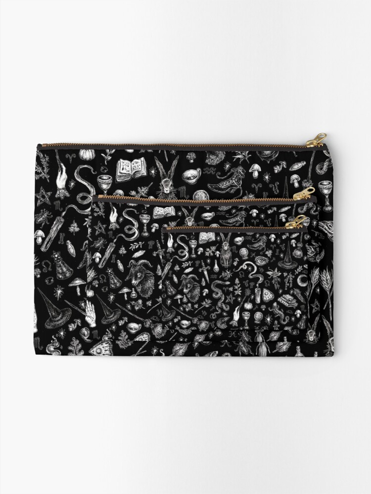 Alternate view of Salem Witch in Black Zipper Pouch