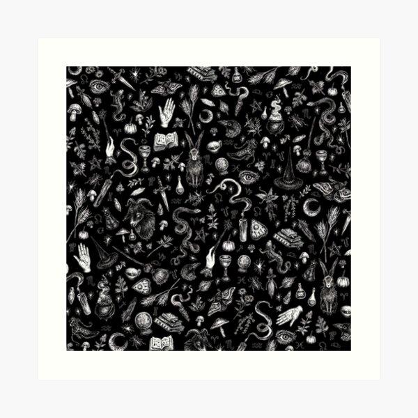 Salem Witch in Black Art Print